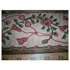 Exquisite antique 18th century embroidery