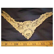 Antique Point De Gaze rare hand done lace doll collars
