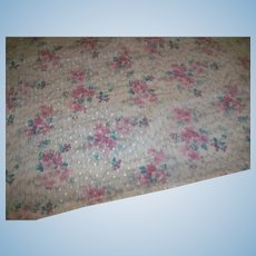 Very fine antique fabric floral