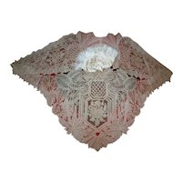 Hand done collar of all Point de Gaze needle lace 1800s