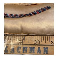 "Tiny 3/16"" fringe of silk and metallic"
