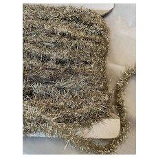 "Silver/gold Victorian Tinsel Trim antique Garland Lametta Christmas decoration 1/2"""