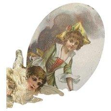 Victorian card 3 D effect