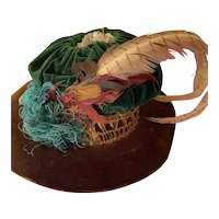Antique hat for large doll or child