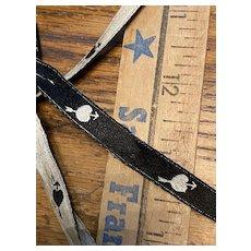 Rare very old length of a novelty silk ribbon 19th century