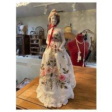 Lovely antique lamp doll half doll