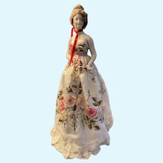 Lovely antique lamp doll half doll