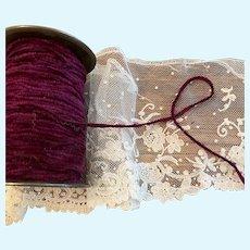 Silk chenille 10 yds. burgundy