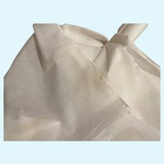 "Super fine white cream linen cloth antique sold by the yard 44"""