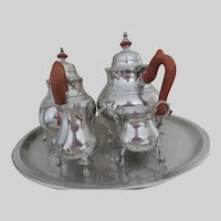 Colonial Williamsburg Pewter 5 Piece Coffee Tea Set from 1976