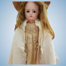 Doll's Cape  with Embroidered Lace Edge's
