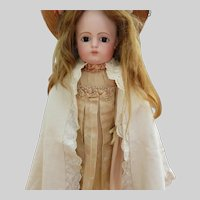 Doll's Cape Eyelet and Embroidered Scalloped Edge's