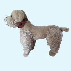 """Vintage 14"""" Steiff Mohair Large Silver Poodle Snobby 1950's"""