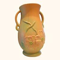 """Weller Dogwood-Rose 13"""" Vase Excellent 1920""""s Beautiful !"""