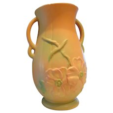 "Weller Dogwood-Rose 13"" Vase Excellent 1920""s Beautiful !"