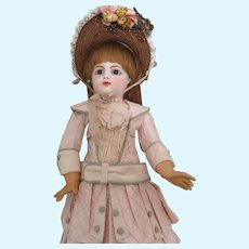 "F 8 G Early Block Letter Bebe 20"" Antique Doll"