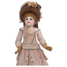 """F 8 G Early Block Letter Bebe 20"""" Antique Doll"""