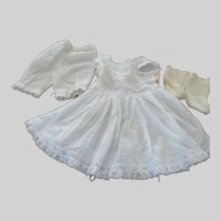 """Antique Dolls Slip with Matching Pantaloons 20"""" Doll"""