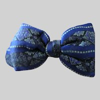 "Antique Silk Bow Tie for Boy Doll 3""- RARE"
