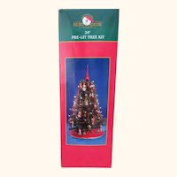Christmas Tree Decorated Lighted 24""