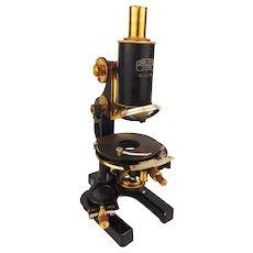 Antique 1910 CARL ZEISS Brass Microscope Srb a Stys Vintage Technical Optics