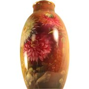 Stunning Tall Royal Bonn Germany 1890-1920 Hand Painted Vase
