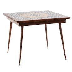 Mid-Century Modern Mosaic Tile Top Table