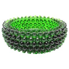 Vintage FENTON Emerald Green Glass Hobnail Ashtray / Vintage Emerald Green St. Patrick's Day Trinket Dish Jewelry Dish / Green Glass Jewelry Trinket Dish