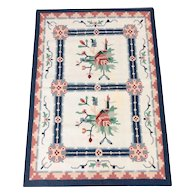 Handwoven Traditional Indian Wool Dhurrie Accent Rug - 4' x 6'1""