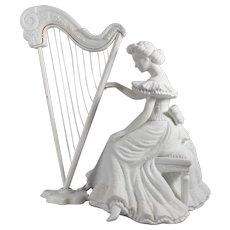 Concerto Harpist Winter Silhouette Porcelain by DEPARTMENT 56 / Concert Harpist Porcelain Figurine