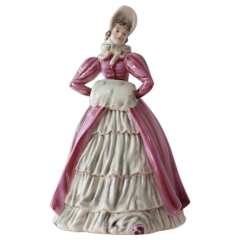 "Keramos Figurine ""Vivian"" Lady with the Muff Biedermeier Style Figurine"
