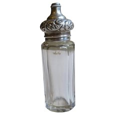 Antique Sterling Silver and Crystal Perfume Bottle