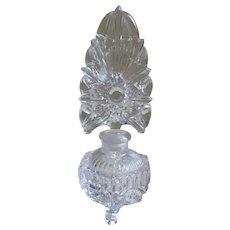 Czech Pressed Glass Perfume Bottle