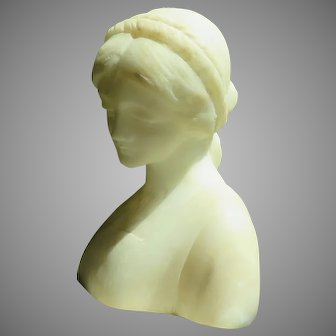 French Alabaster Bust