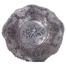 European 800 Silver Cutwork Dish