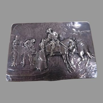 European 800 Silver Embossed Box