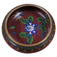 19th Century Chinese Cloisonne' Bowl