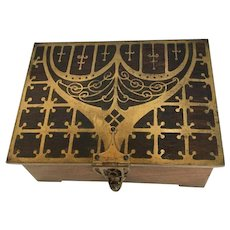 19thc Berlin School Brass inlaid Box by Erhard and Sohne 1896 Jewellery Celtic Revival