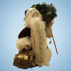 Saint Nicholas With Basket and Holly By Theresa Sprague