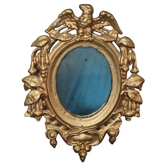 Antique Americana Eagle Cast Iron Frame with Mirror
