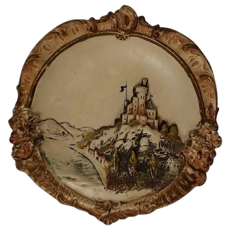 Josef Strnact decorative wall plaque