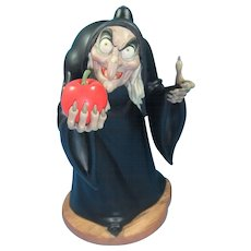 Take the Apple Dearie...Porcelain Disney Figurine Witch from Snow White