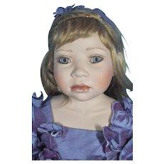 Christine Orange Porcelain & Cloth Doll Named Lavender