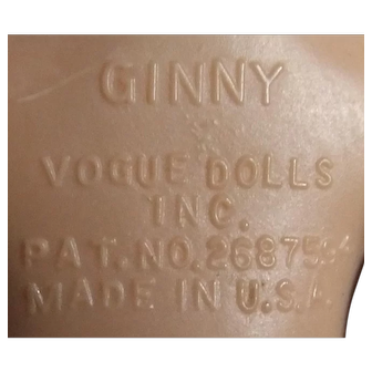 Ginny Vogue Hard Plastic Walker Vintage