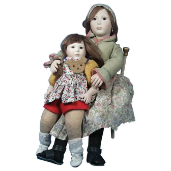 Lynne & Michael Roche Dolls Polly and Anna