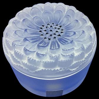 Lalique Dahlia round Trinket box