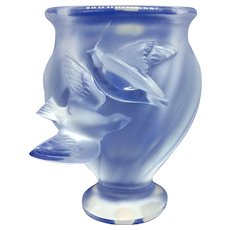 Lalique vase with doves