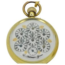 Rare antique L.Audemars world time pocket  watch,specially made  for the Chinese market c1900's.