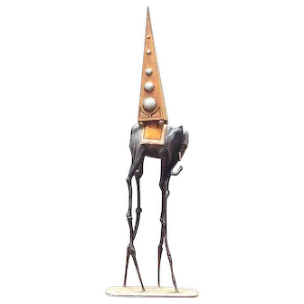 Authentic Salvador Dali Space Elephant Collectible Sculpture