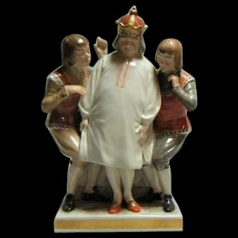 Antique Royal Copenhagen The Emperor's New Clothes porcelain figure